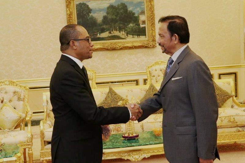 HIS MAJESTY THE SULTAN AND YANG DI-PERTUAN OF BRUNEI DARUSSALAM RECEIVES IN AUDIENCE MINISTER OF FOREIGN AFFAIRS AND COOPERATION OF THE DEMOCRATIC REPUBLIC OF TIMOR-LESTE